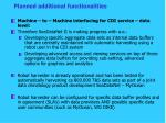 planned additional functionalities4