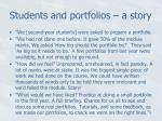 students and portfolios a story