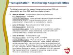 transportation monitoring responsibilities