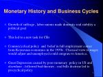 monetary history and business cycles1