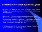 monetary history and business cycles2