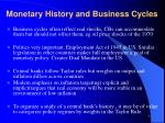 monetary history and business cycles3
