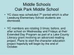 middle schools oak park middle school