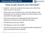 how scale scores are derived