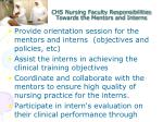 chs nursing faculty responsibilities towards the mentors and interns1