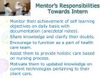 mentor s responsibilities towards intern1