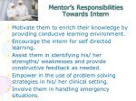 mentor s responsibilities towards intern2