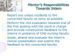mentor s responsibilities towards intern4