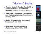 hacker books