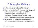 polymorphic malware