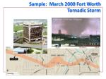 sample march 2000 fort worth tornadic storm