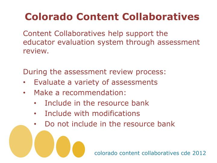 Colorado Content Collaboratives