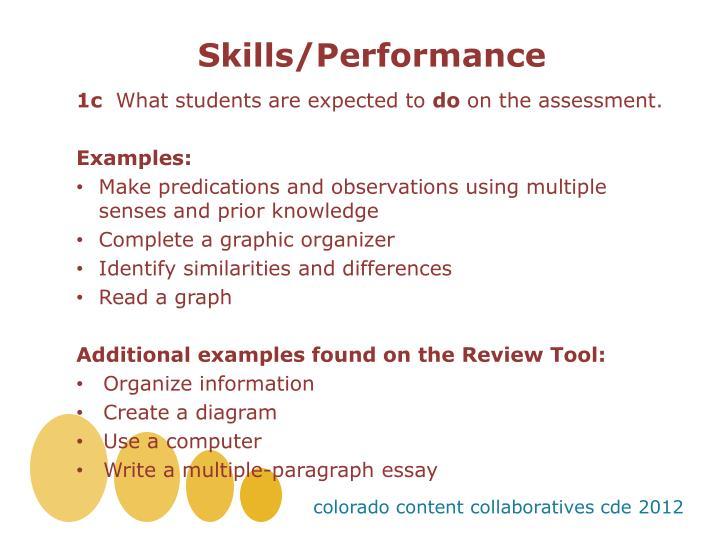 Skills/Performance