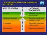 tratamiento simplificado basado en el control