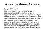abstract for general audience