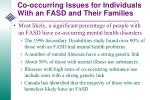 co occurring issues for individuals with an fasd and their families