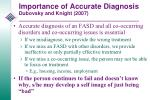 importance of accurate diagnosis dubovsky and knight 2007