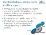 scientific technical achievements and their impact