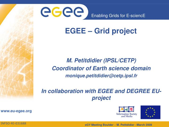 egee grid project n.