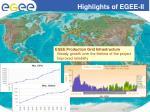 highlights of egee ii