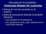 educational accessibility universal design for learning