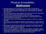 physical accessibility bathrooms