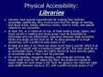physical accessibility libraries
