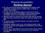 physical accessibility parking spaces