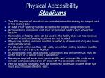 physical accessibility stadiums