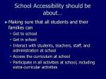 school accessibility should be about