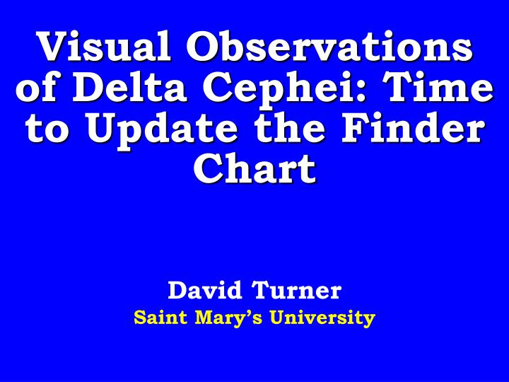 visual observations of delta cephei time to update the finder chart n.