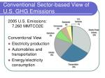 conventional sector based view of u s ghg emissions