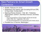 new partners for smart growth conference