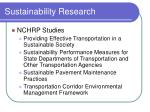 sustainability research