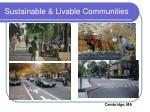sustainable livable communities