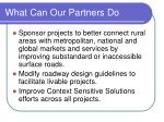 what can our partners do1