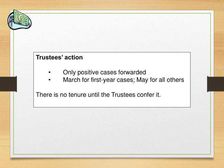 Trustees' action
