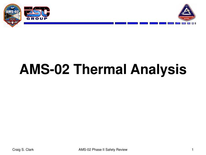 ams 02 thermal analysis n.