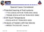 special cases considered
