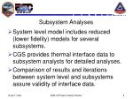 subsystem analyses