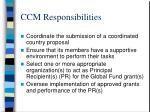 ccm responsibilities