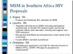 msm in southern africa hiv proposals