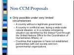 non ccm proposals