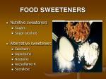food sweeteners