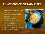 functions of dietary fiber1