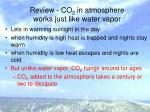 review co 2 in atmosphere works just like water vapor