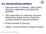 our olmstead responsibilitie s