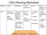 ceo planning worksheet