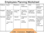 employees planning worksheet