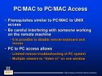 pc mac to pc mac access